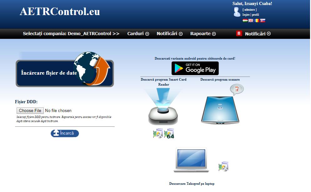 Programele adiționale AETRControl pentru PC